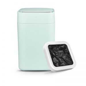 Townew Canada Teal Trash Can With White Refill Ring On White Background